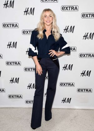 Julianne Hough visits 'Extra' at their New York studios in Times Square