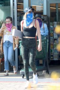 Julianne Hough - Wearing mask as she shopping at Whole Foods in Malibu
