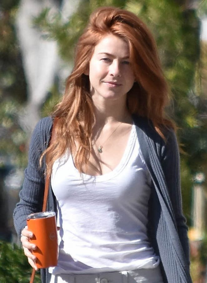 julianne hough with red hair out in beverly hills 01