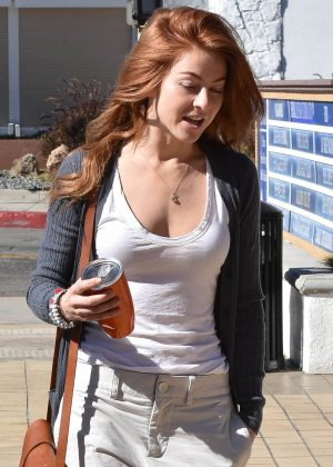 Julianne Hough with red hair out in Beverly Hills