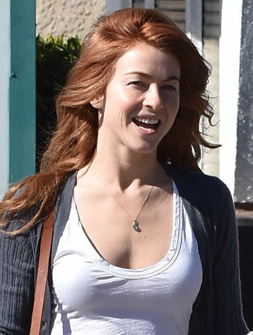 julianne hough with red hair out in beverly hills 11
