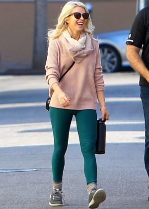Julianne Houghin Tights - Out for lunch in Studio City