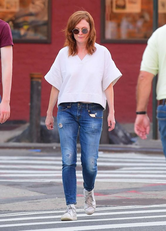 Julianne Moore and daughter Liv Freundlich - Out in New York City