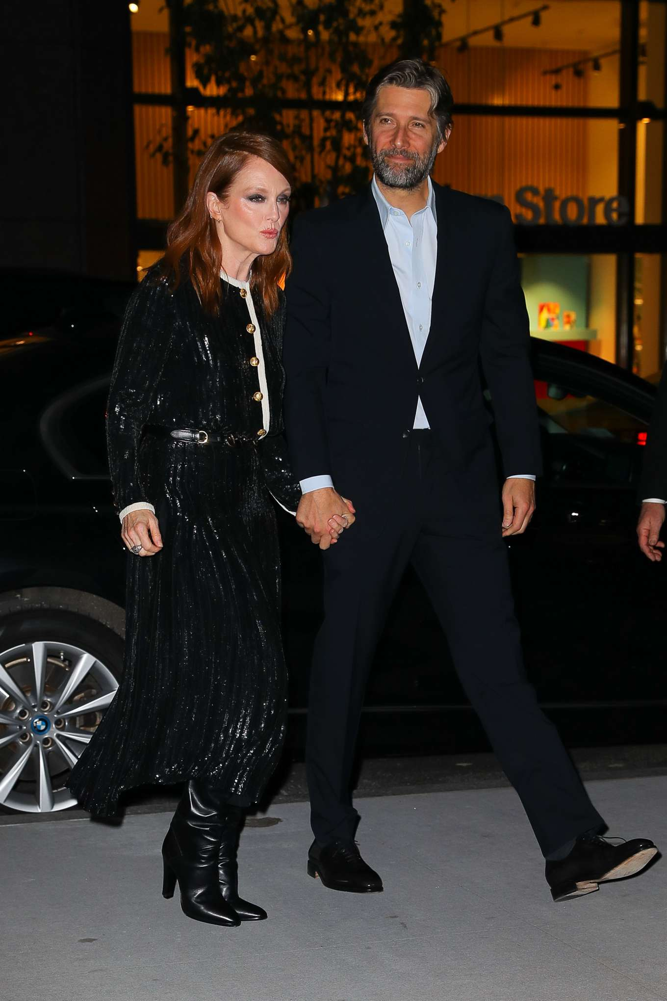 Julianne Moore and husband Bart Freundlich - Arriving at the WSJ Innovator Awards in NYC