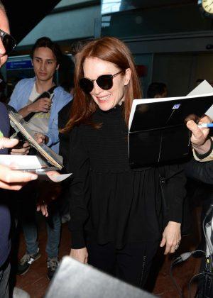 Julianne Moore Arriving at Airport in Nice