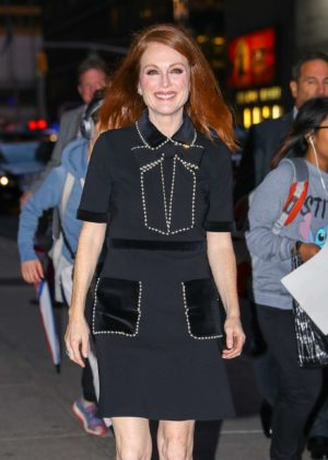 Julianne Moore - Arriving at 'The Late Show with Stephen Colbert' in NY