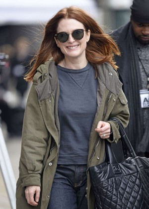 Julianne Moore Arriving on the set of 'Inside Amy Schumer' in New York