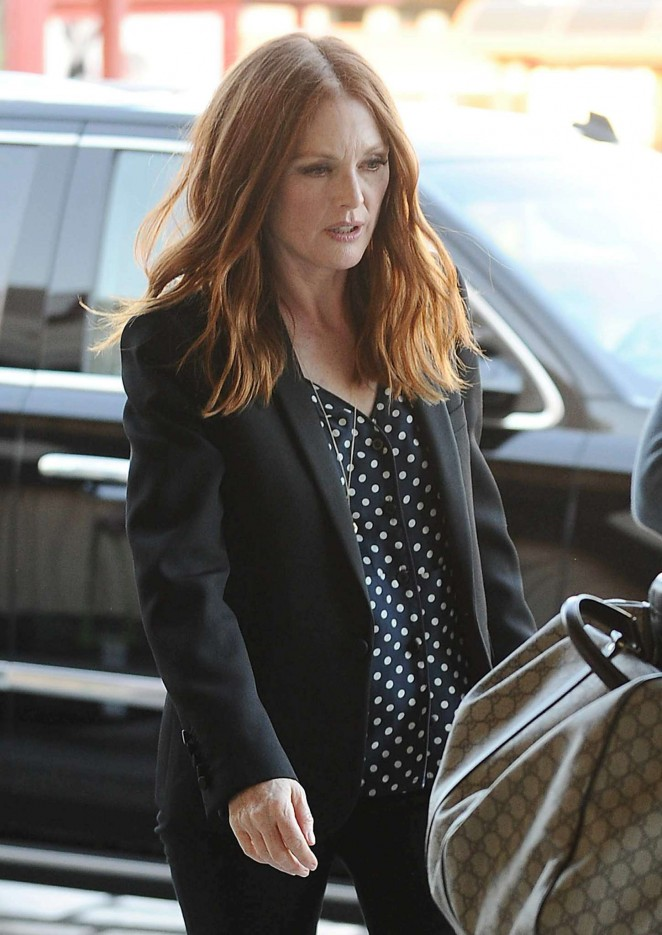 Julianne Moore at LAX Airport in LA