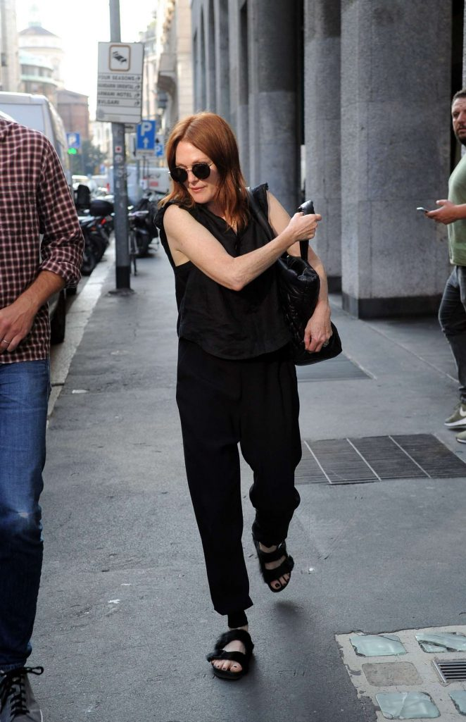 Julianne Moore at Milan Fashion Week in Milan