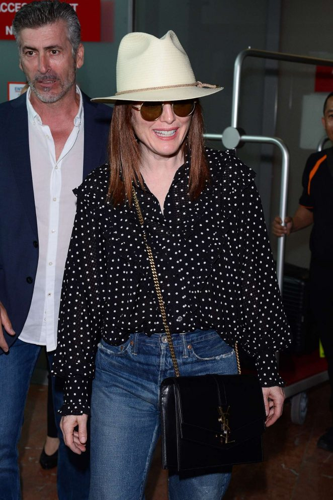 Julianne Moore at the airport in Nice