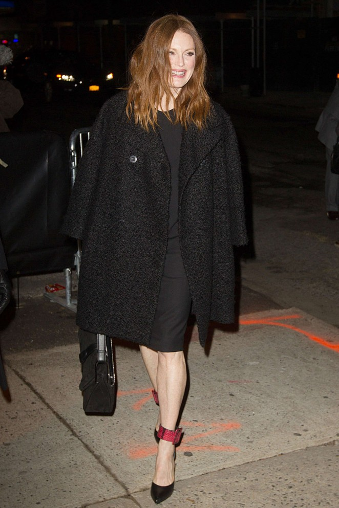Julianne Moore at 'The Daily Show with Jon Stewart' in NYC
