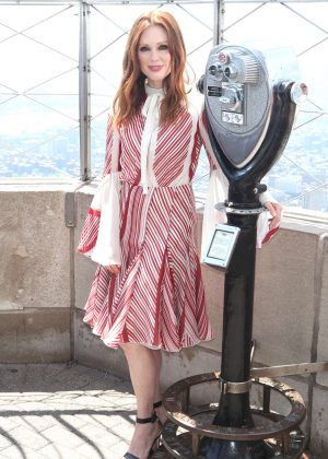 Julianne Moore at The Empire State Building in New York City