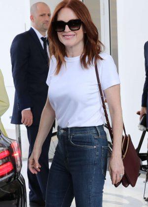 Julianne Moore - Leaves Hotel Martinez in Cannes