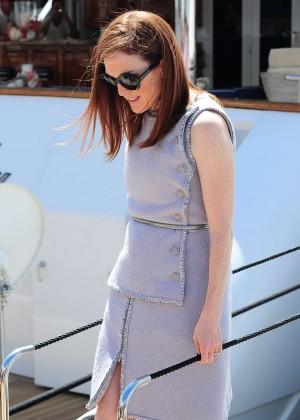 Julianne Moore - Leaving a yacht in Cannes