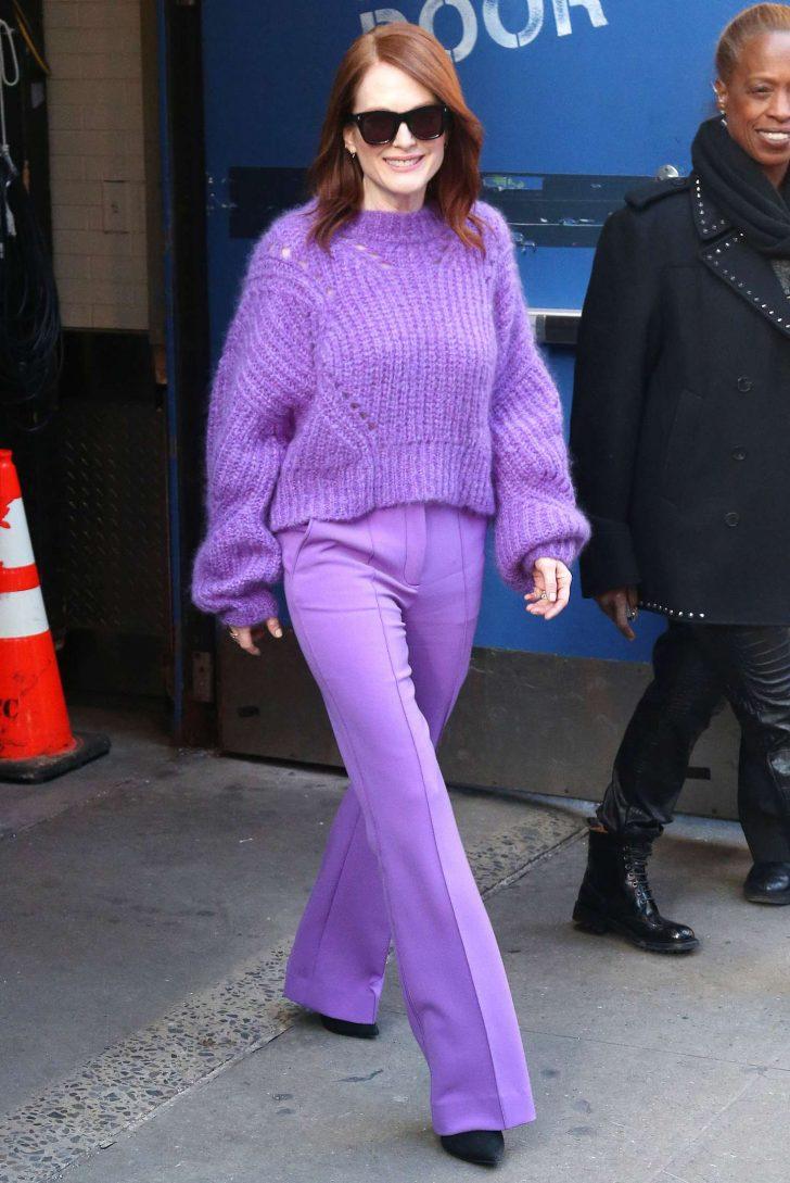 Julianne Moore - Leaving Good Morning America Studios in NYC
