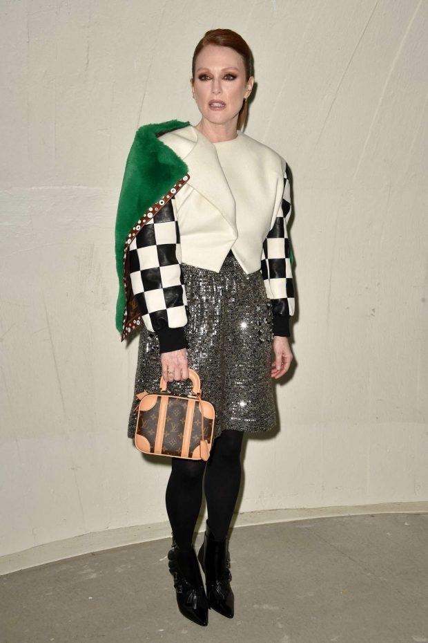 Julianne Moore: Louis Vuitton Cruise 2020 Fashion Show at JFK Airport -06