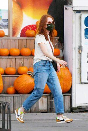 Julianne Moore - On a stroll in the West Village in New York City