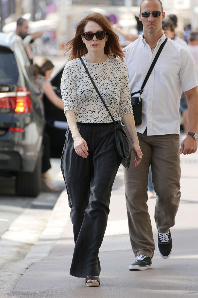 Julianne Moore - Out and about in Cannes
