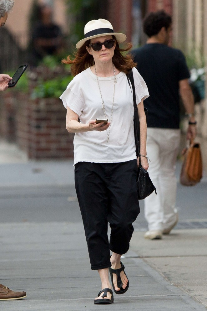 Julianne Moore - Out and about in NYC