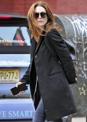 Julianne Moore out and about in Tribeca