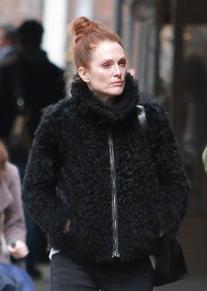 Julianne Moore - Out and about in West Village