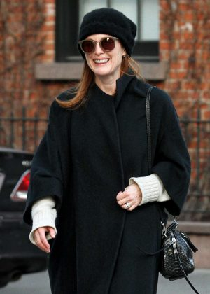 Julianne Moore out for a walk in Manhattan