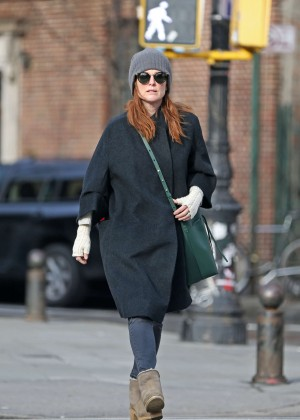 Julianne Moore out in Manhattan