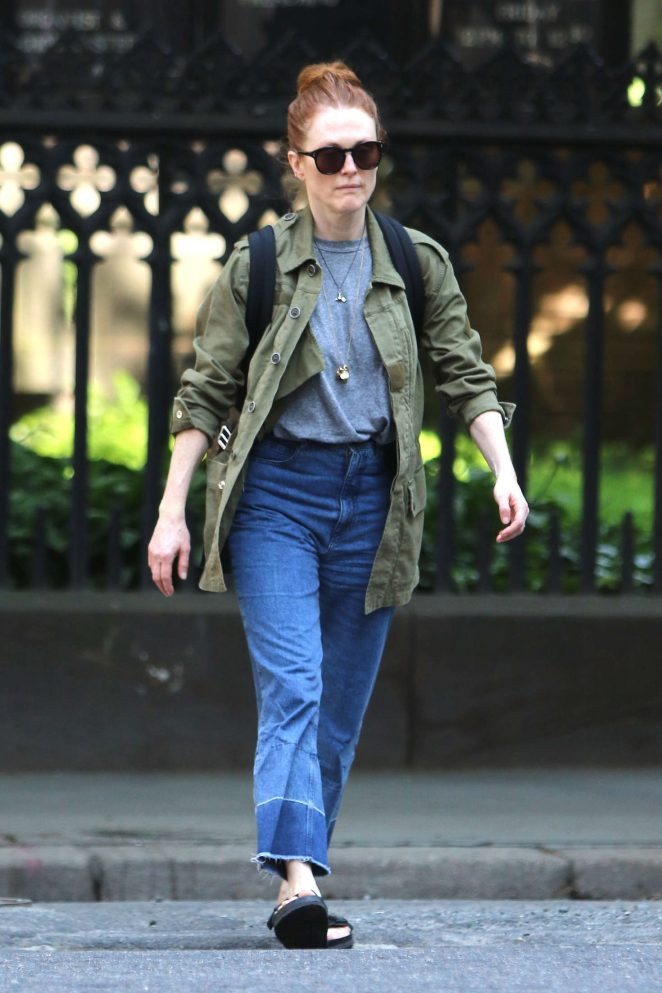Julianne Moore out in NYC -02