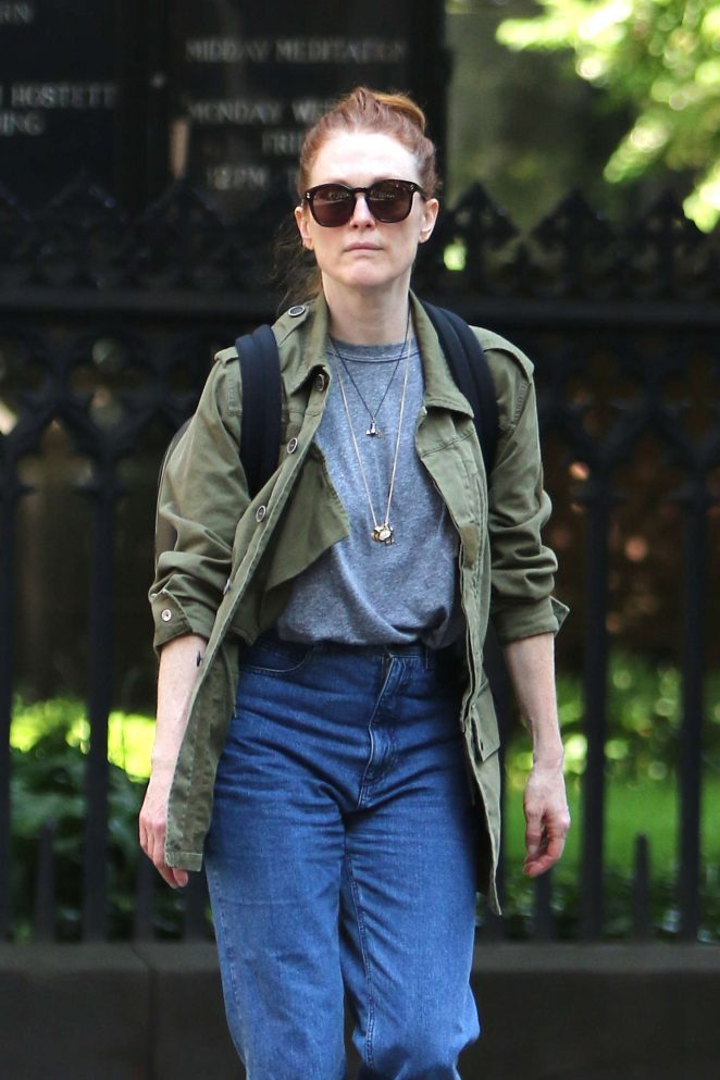 Julianne Moore out in NYC -10