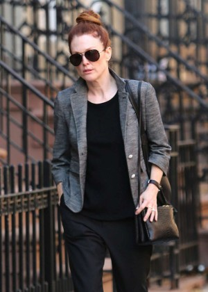 Julianne Moore - Out in the West Village