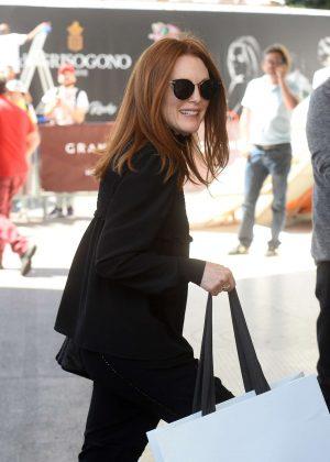 Julianne Moore Shopping at Celine in Cannes