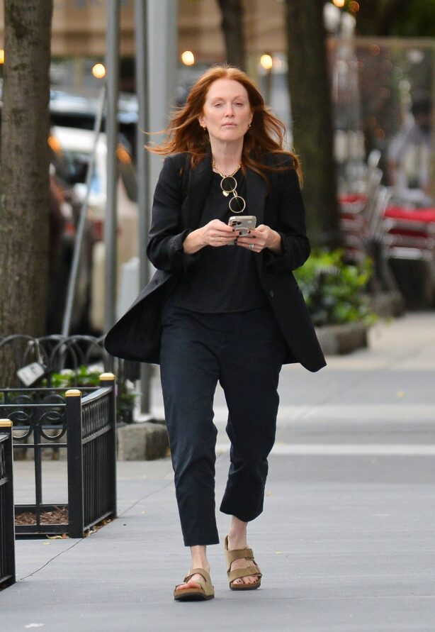 Julianne Moore - steps out in New York City