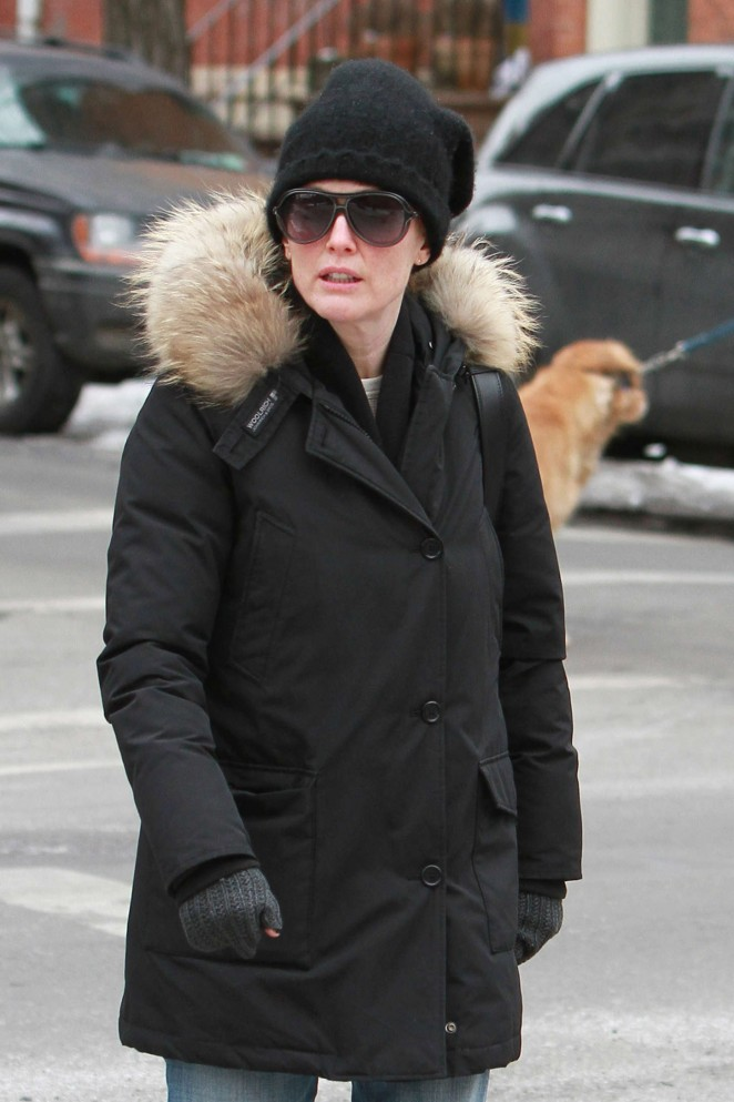 Julianne Moore in Jeans Out in NYC