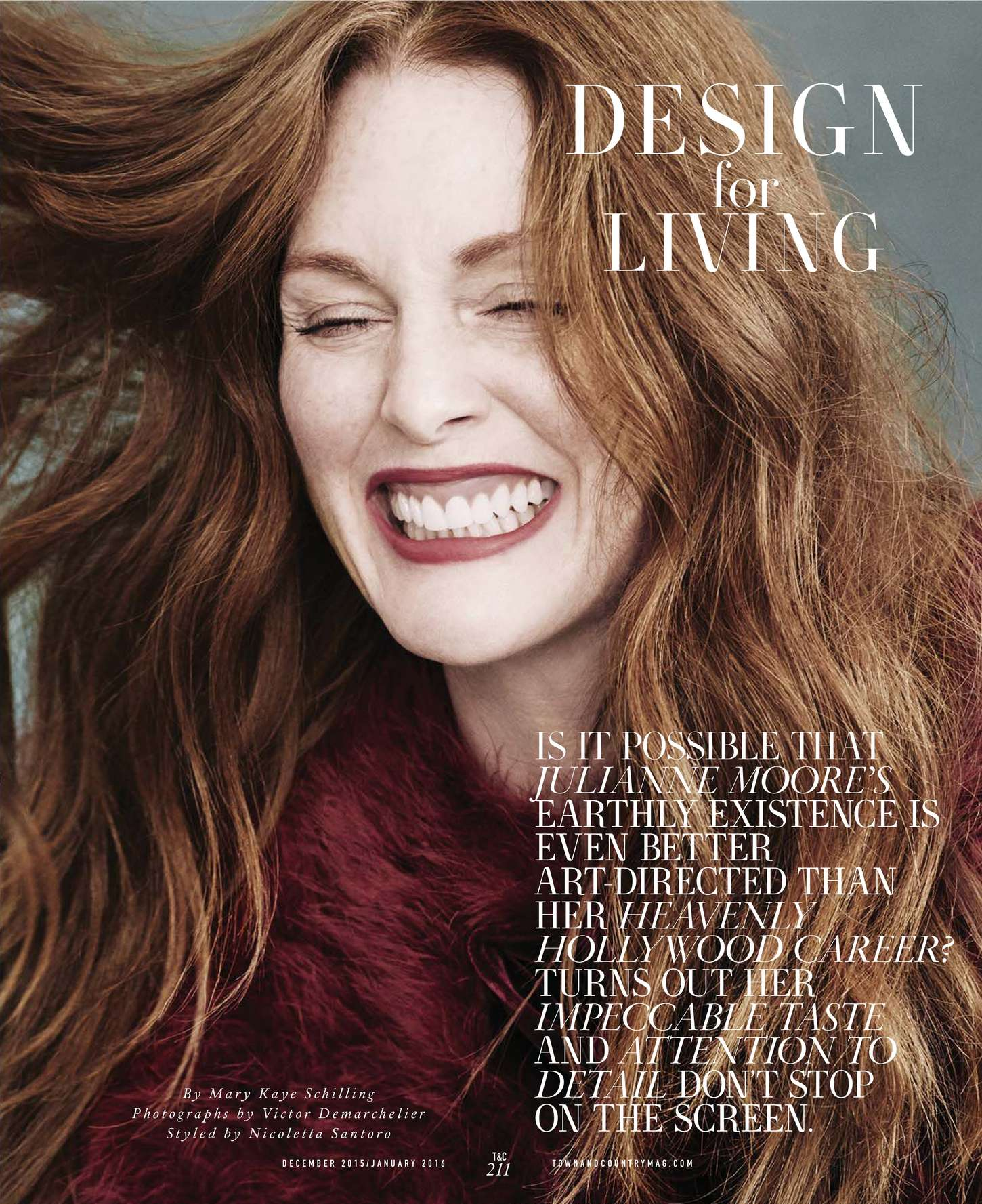 Julianne Moore 2015 : Julianne Moore: Town and Country US 2015 -04