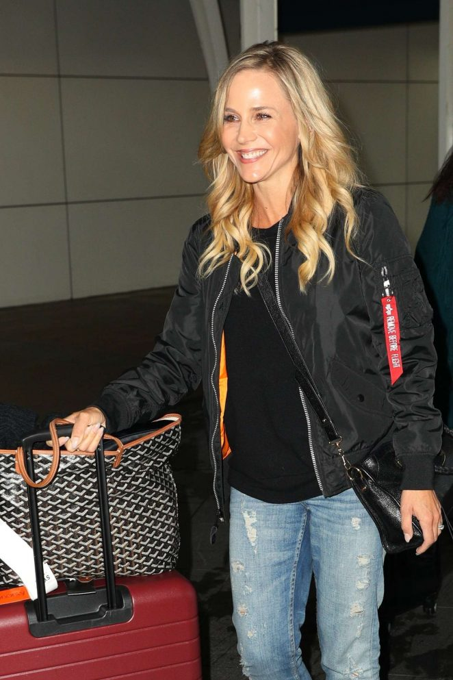 Julie Benz Arrives at Kingsford Smith Airport in Sydney