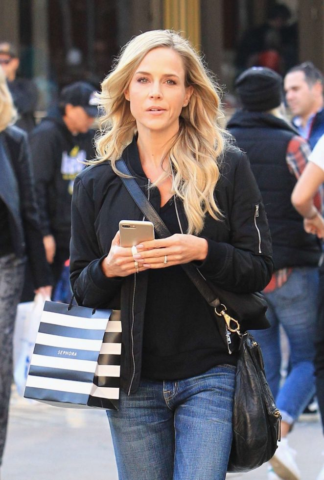 Julie Benz in Jeans out shopping in Beverly Hills