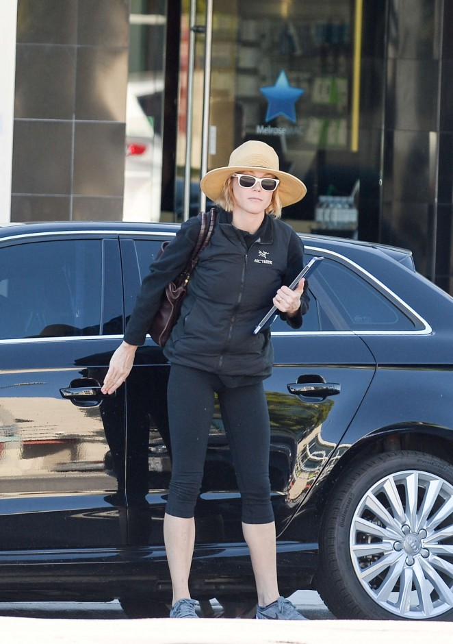Julie Bowen in Leggings out in Hollywood