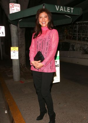 Julie Chen - Leaves Madeo Restaurant in West Hollywood
