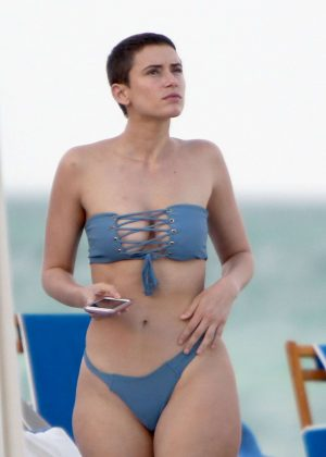 Julieanna Goddard in Blue Bkini on Miami Beach