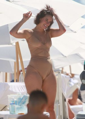 Julieanna Goddard in Swimsuit at the beach in Miami