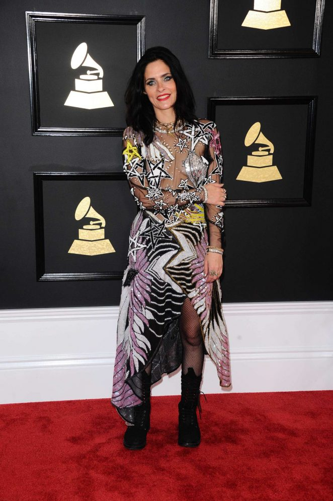 Juliette Larthe - 59th GRAMMY Awards in Los Angeles