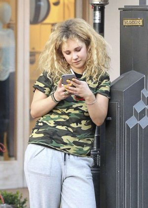 Juno Temple at the Grove in Los Angeles