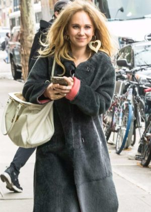 Juno Temple out and about in New York