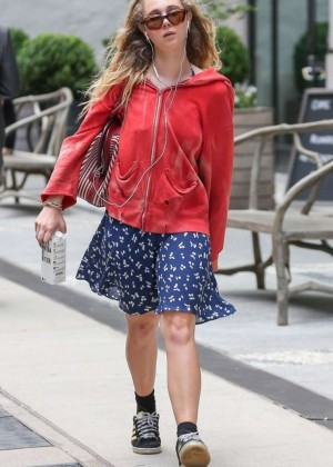 Juno Temple in Mini Skirt out in NYC