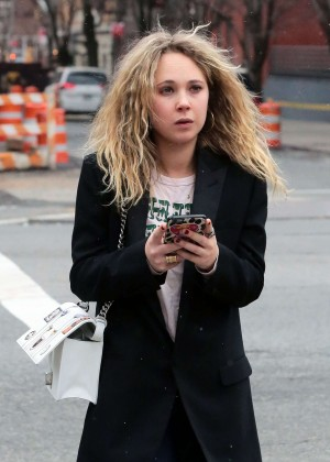 Juno Temple out in NYC