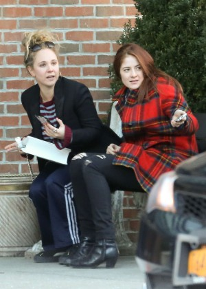 Juno Temple with friend out in NYC