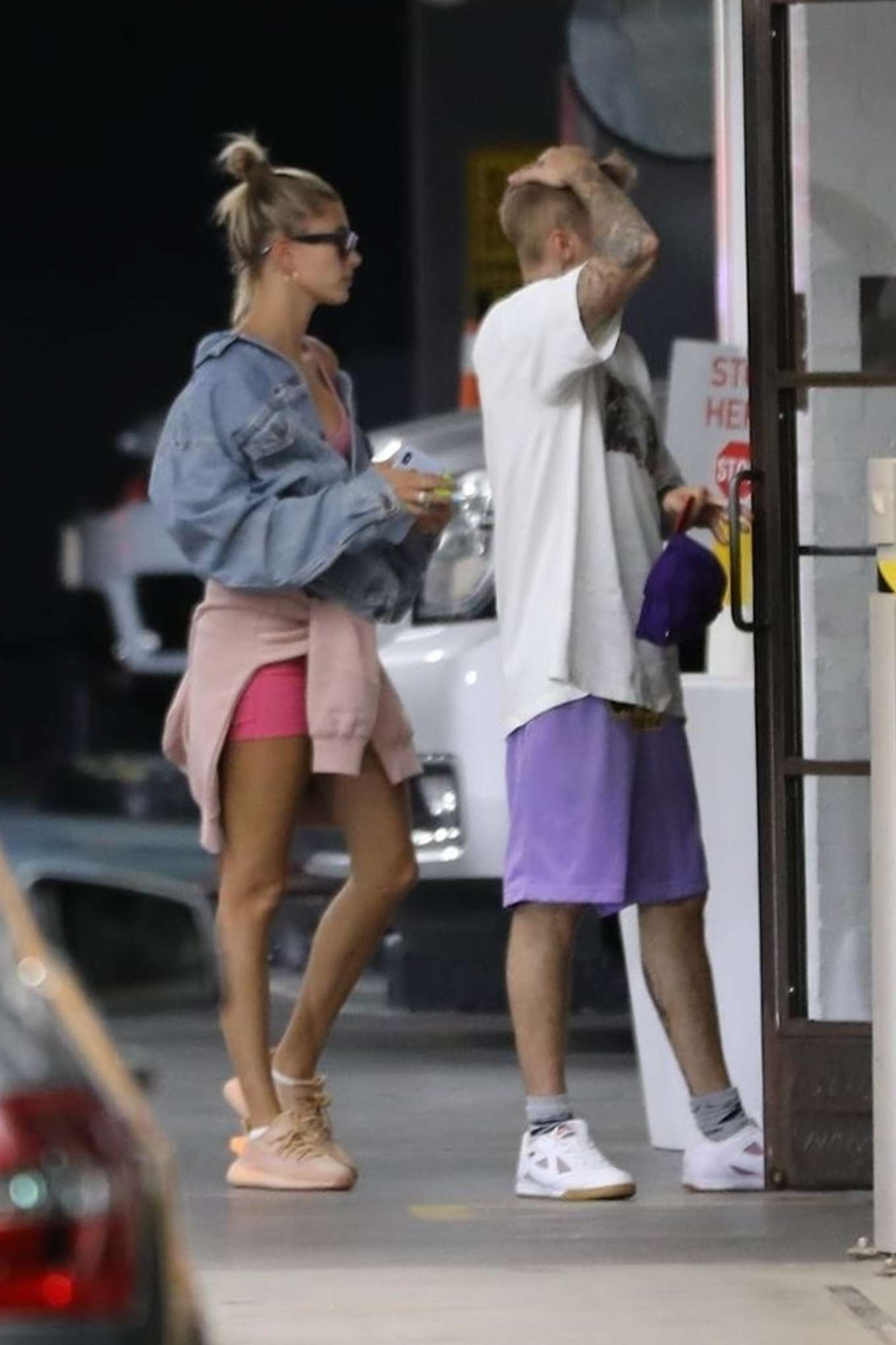 Justin Bieber and Hailey Bieber - Seen at Soho House in West Hollywood