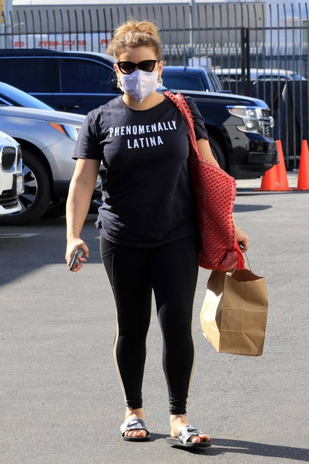 Justina Machado - Arriving at the DWTS studio in Los Angeles