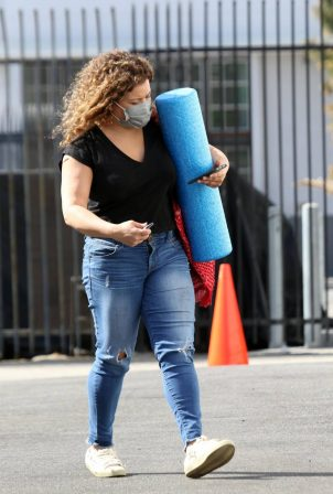 Justina Machado - Heads into the DWTS studio in Los Angeles