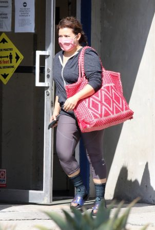 Justina Machado - Out of the DWTS studio in Los Angeles